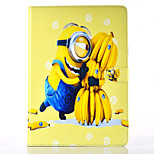 Hold Bananas Pattern PU Material Flip Bracket Protective Case for iPad  Mini 1/2/3