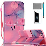 LEXY® Starry Sky Dandelion Pattern PU Full Body Leather Case with Screen Protector and Stylus for iPhone 6/6S