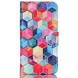Hexagon Painted PU Phone Case for iphone6/6S