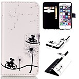 Bicycle Lovers Pattern Relief  PU Leather Wallet Case with Stand and Card Holder for iphone 6plus/6Splus
