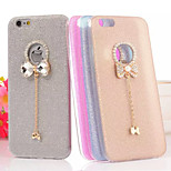 Bright Shiny Bowknot Exquisite Pendant Chain Design TPU Soft Back Case Cover for iPhone 5/5S(Assorted Colors)