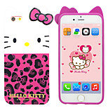 iPhone 6 Case Hello Kitty TPU Material Cover Case Free with Headfore High Definition Screen Protector for iPhone 6