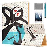 LEXY® Don't forget me Pattern PU Leather Flip Stand Case with Screen Protector and Stylus for iPad Air 2/iPad 6
