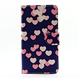 Colorful Heart PU Leather Full Body Case with Stand for Huawei Ascend P8 Lite