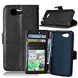 Crazy Horse PU Leather Stand Case Cover with Card Slots for Sony Xperia Z3 Compact D5803 (Assorted Colors)