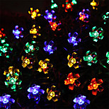 50 LED Decorative String Lights Solar Maomao Ball String Lights Waterproof Outdoor Christmas Lights String Garden Lights