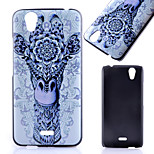 Printed Giraffe Pattern PC Material Phone Case for Wiko Birdy