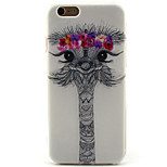 Lovely Ostrich Painting Pattern TPU Soft Case for iPhone 6/6S