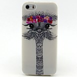 Flowers Deer Head Pattern TPU Soft Cover for iPhone 5/5S