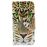 The Fierce Leopard Design PU Leather Full Body Case with Card Slot and Stand TPU Cover for iPod Touch 5
