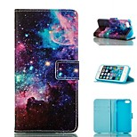 Starry Sky Design PU Full Body Case with Stand with Card Slot for iPhone 5/5S