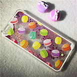 maycari® il mondo dei macarons luccica di nuovo pc caso modello sabbia sabbie mobili stella trasparente per 6s iphone 6 / iphone