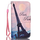Transmission Tower Pattern PU Material Card Lanyard Case for iPhone 5/5S