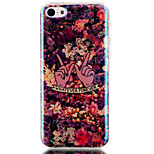Floral Pattern Blu-ray  IMD Cell Phone Case for  iPhone 5C