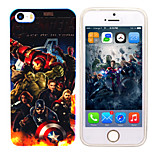iPhone 5 Marvel The Avenger Mirror Back Blue Cover Case Free with Headfore HD Screen Protector for iPhone 5/5s