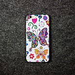 Butterfly Pattern TPU Relief Cover Case for iPhone 6/6S