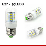 1 pcs E26/E27 7W 30SMD5730 550LM Warm White / Natural White Decorative Corn Bulbs 110V/220V