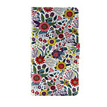 Printed Colorful Flower PU Leather Wallet Full Body Case with Stand for Sony Xperia M4 Aqua