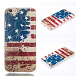 Watercolor American Flag Pattern Phone Shell Thin TPU Material for iPhone 6/6S