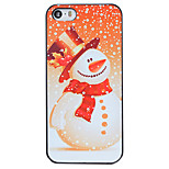 Christmas Style Snowman Snowing Pattern PC Hard Back Cover for iPhone 5/5S