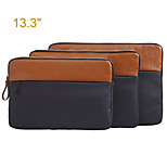 Genuine Leather with Canvas Laptop   Computer Carrying Bag for MacBook Air 13.3''/MacBook Pro 13.3'' with Retina