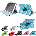 Polka Dot 360 Degree Rotating PU Leather Full Body Case with Stand for iPad Air / iPad 5 (Assorted Colors)