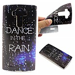 Dance In The Rain Words Phrase Pattern 0.6mm Ultra-Thin Soft TPU Case for LG G4