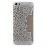 fiori di pizzo modello trasparente di tpu della copertura posteriore per il iphone 5 / 5s
