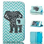 Corrugated Elephants  Design PU Full Body Case with Stand with Card Slot for iPhone 5/5S