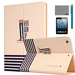LEXY® Never Grow Up Pattern PU Leather Flip Stand Case with Screen Protector and Stylus for iPad Mini 1/2/3