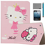 LEXY® Kitty cat Pattern PU Leather Flip Stand Case with Screen Protector and Stylus for iPad Mini 1/2/3