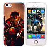 iPhone 5 Marvel The Avenger Ironman Mirror Back Blue Cover Case Free with Headfore HD Screen Protector for iPhone 5/5s