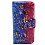 Gradient Alphabet Pattern PU Leather Full Body Case with Card Slot and Stand for iPhone 5/5S