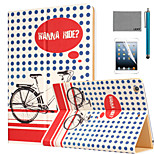 LEXY® Wanna Ride Pattern PU Leather Flip Stand Case with Screen Protector and Stylus for iPad Air 2/iPad 6