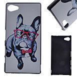 Glasses Dog Pattern PC Hard Cover Case for Sony Z5 Compact
