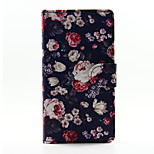 Floral Face Design PU Leather Stand Case with Card Slot for Sony Xperia M2
