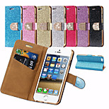 Luxury Bling Glitter Wallet Flip Buckle Full Body Case for iPhone 6 (Assorted Colors)