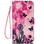 Butterfly Pattern PU Material Card Lanyard Case for iPhone 6/6S