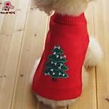 Hunde / Katzen - Winter - Fasergemisch - Weihnachten / Neujahr - Rot / Schwarz / Grau / Orange - Mäntel / Pullover - XS / S / M / L