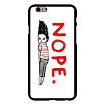Nope Pattern PC Hard Case for iPhone 6/6S