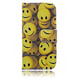 Smile Pattern PU Leather Material Suction Port Standoff Phone Case for iPhone 6 / 6S