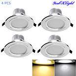 4 pcs YouOKLight 7 W 15 SMD 5630 700 LM Warm White / Cool White Decorative Recessed Lights AC 85-265 V