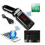 Bluetooth Handsfree Car Kit To Cigarette Lighter, Bluetooth 3.0/FM Transmitter/Dual USB Port For Car Charger/MP3 Player