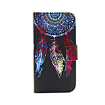 Color  Flapping Monternet Portal Pattern PU Leather Full Body Case with Card Slot and Stand for iPhone 5/5S