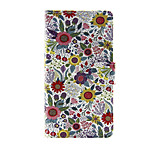 Printed Colorful Flower PU Leather Wallet Full Body Case with Stand for Huawei G8