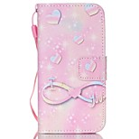 Love Pattern PU Material Card Lanyard Case for iPhone 5/5S
