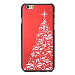 Christmas Style Red Tree Pattern PC Hard Back Cover for iPhone 6