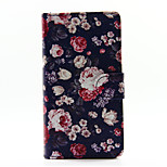 Colorful Rose PU Leather Full Body Case with Stand for Huawei Ascend P8 Lite