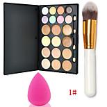 Party Contour Makeup Kit Concealer Blush Palette + 1PCS Powder Blush Brush+Foundation Sponge Blender Blending Puff