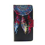 Design Of Coloured Drawing Or Pattern  PU Leahter Case with Film and Dust Plug for Sony Xperia Z3 Compact